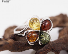 Baltic Amber Sale, Multi Ring , direct from Poland  AM 283