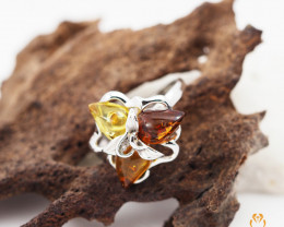 Baltic Amber Sale,Flower Multi Ring , direct from Poland  AM 287