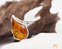 Baltic Amber Sale,Ffree flow Ring , direct from Poland  AM 290