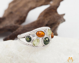 Baltic Amber Sale,MultiFlow Ring , direct from Poland  AM 291