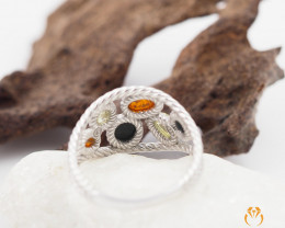 Baltic Amber Sale,MultiFlow Ring , direct from Poland  AM 293
