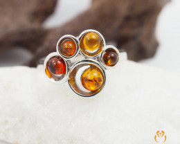Baltic Amber Sale,Multi Round Ring , direct from Poland  AM 295