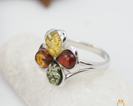 Baltic Amber Sale, Cluster Ring , direct from Poland  AM 298