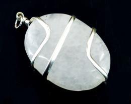White Quartz Oval Shape Pendant