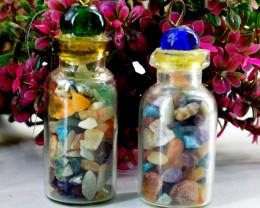 Mix Gem Bottle Pendant Lot