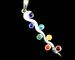 Seven Chakra Snake Pendant