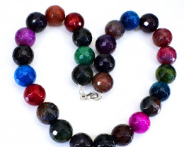 Multicolor Mix Gemstone Faceted Beads Necklace