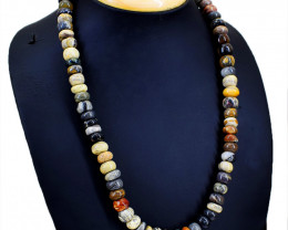 Picasso Jasper Round Beads Necklace