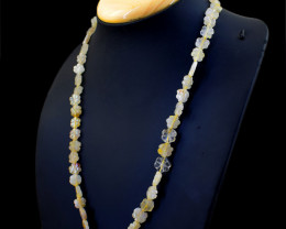Flower Carved Rutile Quartz Beads necklace