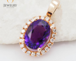 Gold Amethyst Pendants