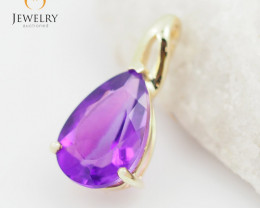 14 K Yellow Gold Amethyst Pendant P11374