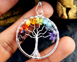 Seven Chakra Tree Pendant