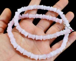 Pink Rose Quartz Beads Necklace