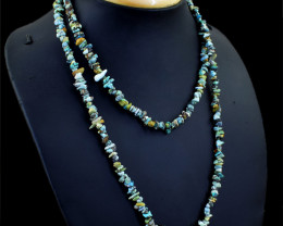 Azurite Beads Necklace - 34 Inches Long