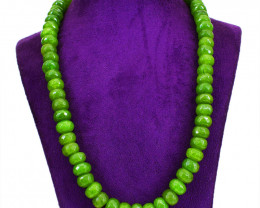 Green Garnet Faceted Beads Necklace