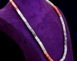 Multicolor Moonstone Beads Necklace