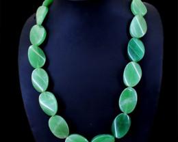 Green Aventurine Beads Single Line Necklace