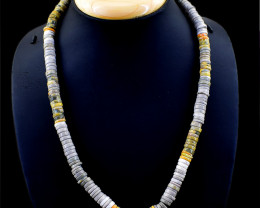 Bumble Bee Jasper Round Beads Necklace