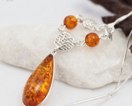 Baltic Amber Sale, Cluster Drop  Necklace , direct from Poland  AM309