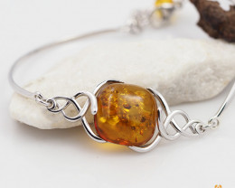Baltic Amber Sale, Bracelet Silver , direct from Poland  AM311