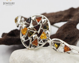 Baltic Amber Sale, Silver Bracelet , direct from Poland  AM 320