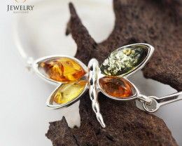 Baltic Amber Sale, Butterfly Silver Bracelet , direct from Poland  AM 322