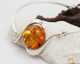 Baltic Amber Sale, Silver Bracelet , direct from Poland  AM 324