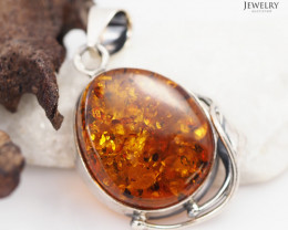 Baltic Amber Sale, Silver Pendant  , direct from Poland  AM 326