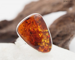 Baltic Amber Sale, SilverAdustable Ring  , direct from Poland  AM 304