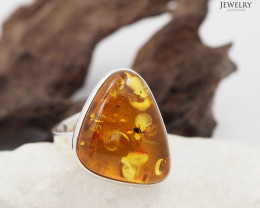 Baltic Amber Sale, SilverAdustable Ring  , direct from Poland  AM 327