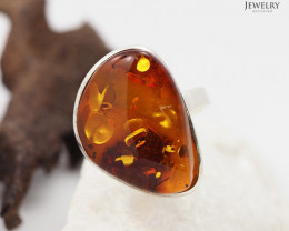 Baltic Amber Sale, SilverAdustable Ring  , direct from Poland  AM 328