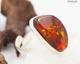Baltic Amber Sale, SilverAdustable Ring  , direct from Poland  AM 329
