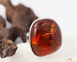 Baltic Amber Sale, SilverAdustable Ring  , direct from Poland  AM 332