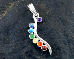 Seven Chakra Tibet Silver Pendant