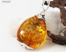 Baltic Amber Sale, Silver Pendants  , direct from Poland  AM 336