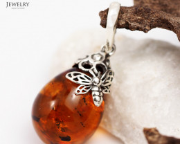 Baltic Amber Sale, Silver Pendants  , direct from Poland  AM 338