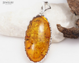 Baltic Amber Sale, Silver Pendants  , direct from Poland  AM 340