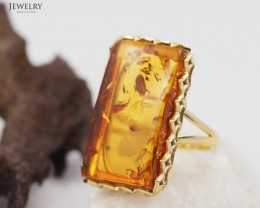 Baltic Amber Sale, Silver Ring Adustable GP  , direct from Poland  AM349
