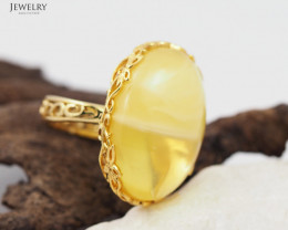 Baltic Amber Sale, Silver Ring Adustable GP  , direct from Poland  AM358