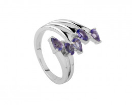 Tanzanite 925 Sterling silver ring #451