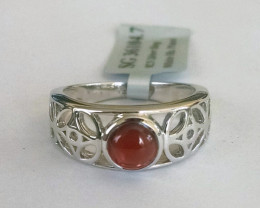 Garnet filigree 925 Sterling silver ring #104