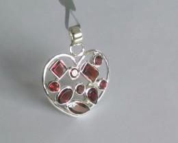 Garnet 925 Sterling silver pendants #34080