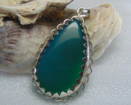 Agate pendent ~ antique stone~ fantasy silver designs 67.85cts