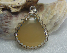 Agate pendent ~ antique stone~ fantasy silver designs 54.95cts