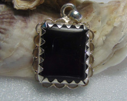 Agate pendent ~ antique stone~ fantasy silver designs 24.50cts