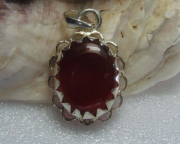 Agate pendent ~ antique stone~ fantasy silver designs 25.55cts