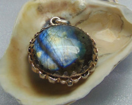 Labradorite jewellery designed pendent silver 68.35 cts