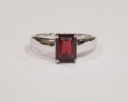 Garnet 925 Sterling silver ring #177