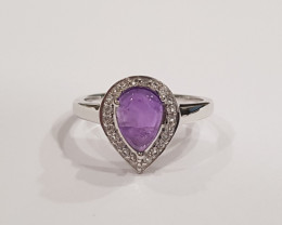 Amethyst 925 Sterling silver ring #478