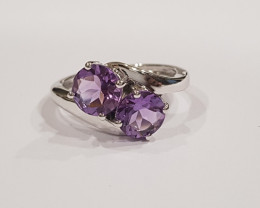 Amethyst 925 Sterling silver ring #278
